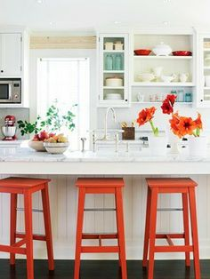 Adding colour and personality to all white kitchens doesn't have to cost a fortune