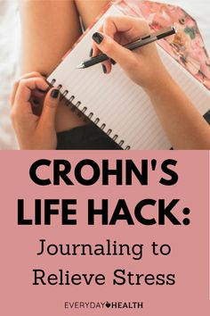 Along with exercise and working with a mental health professional, journaling or expressive writing can help you manage your stress so it doesn't trigger flare-ups. When Things Go Wrong, Cool Things To Make, Reduce Stress, How To Relieve Stress, Crohn's Disease, Clear Your Mind, Improve Mental Health, Dealing With Stress, Crohns