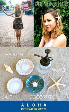 Get the Aloha look with this DIY beach hair spray.