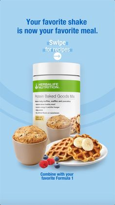 Introducing Herbalife Nutrition Protein Baked Goods Mix, your new favorite product to create baked goods in a healthier way. Available now in the US, Canada and Puerto Rico. #HerbalifeNutrition #Baking #Muffins #Waffles #Donuts Herbalife Protein, Herbalife Shake Recipes, Protein Shake Recipes, Herbalife Nutrition, Herbalife Products, Protein Mix, Healthy Protein Snacks, Protein Foods, Healthy Eating