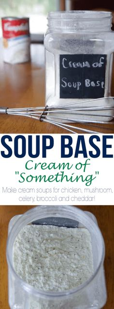 Use this Soup Base recipe to make several variations of a Cream of Something soup mixture. Much cheaper and healthier to make versus buy! Use this Soup Base recipe to make several variations of a Cream of Cream Of Soup Mix Recipe, Soup Base Recipe, Cream Soup Recipes, Recipe Mix, Gluten Free Cream Soup Recipe, Cream Soup Base, Cream Soups, Homemade Mushroom Soup, Mushroom Soup Recipes