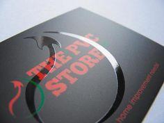 _The PVC Store: logo design/spot-varnish business card by Richard Evans, via Behance