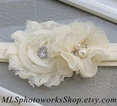 Soft & Simple Little Christening Headband  by MLSPhotoWorksShop, $6.00