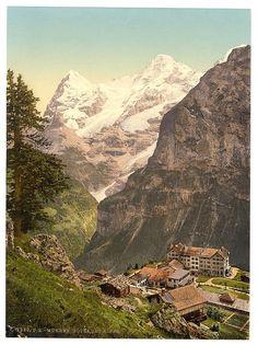 Murren, Hotel des Alps, Bernese Oberland, Switzerland