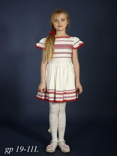 Ukrainian embroidery Dress for girls. Vyshyvanka dress Linen beige. Ethnic embroidery red, blue. Ukrainian dress white