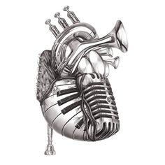 Heart of music from jake weidmann artist and master penman drawings of music, art of Music Tattoo Designs, Music Tattoos, Music Heart Tattoo, Music Love, Music Is Life, Music Is Art, Music Pics, Music Artwork, Music Music