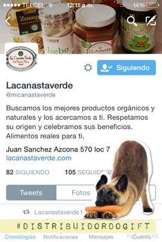 Te invitamos a seguir a @micanastaverde donde podrás encontrar #productosorganicos #distribuidordogift @en_narvarte
