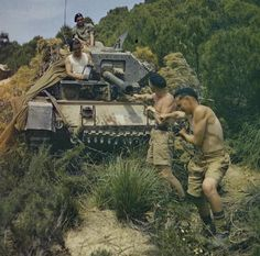 British soldiers near Tunis, North Africa, 1943 - image Imperial War Museums