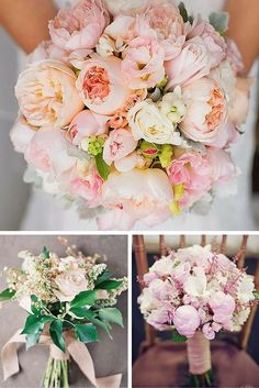 24 Soft Pink Wedding Bouquets To Fall In Love With ❤ These soft pink wedding bouquets could give you so much inspiration! See more: http://www.weddingforward.com/pink-wedding-bouquets/ #weddings #bouquets