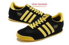 Adidas Originals Dragon Sneakers Running Shoes Mens Black -Yellow