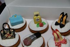 Birthday Cosmetic and Fashion Cupcakes 4