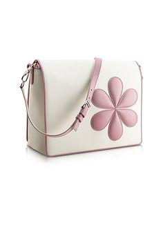 Pineider+Pink+Flower+Messenger+Changing+Bag