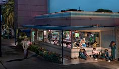The Diner by Ryan Schude. 12hours, 24 lights and 20 people, each with their own emotion and story!!!