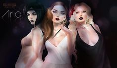 Birdy Aria Skins - Demo available - 6 Makeup options available - Thin & Thick Brow Options - 4 Mole & 3 Blush tattoos, Included - 5 Eyebrow color options - 188L each - 888L for Fatpack