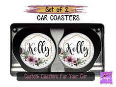 This set of 2 of car coasters are great at helping keep your cup holders clean and dry. Rubber & Sandstone coasters are Unique Gifts For Her, Gifts For Mom, Tween Gifts, Easter Gift Baskets, Basket Gift, Funeral Gifts, Remembrance Gifts, First Anniversary Gifts, Personalized Photo Gifts