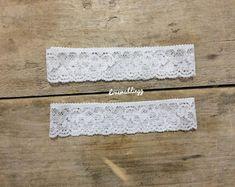 Pearl gold garter set plus size garter wedding day gift