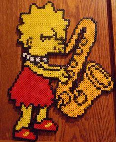 sandylandya@outlook.es  Lisa Simpson perler beads by Excellente-Mustachio on deviantart