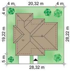 Projekt domu Goliat III 171.21 m² - Domowe Klimaty Model House Plan, House Plans, Roof Design, House Design, Bungalows, Custom Built Homes, Planer, Sweet Home, New Homes