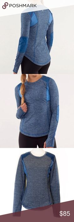 Lululemon Ice Queen Top in Blue, 10 Lululemon Ice Queen Top in Blue, 10  EXCELLENT CONDITION NO DEFECTS PLEASE ASK FOR MEASUREMENTS BEFORE PURCHASING lululemon athletica Tops Tees - Long Sleeve