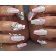 Pink Ombré Coffin Nails - Nail Art Gallery