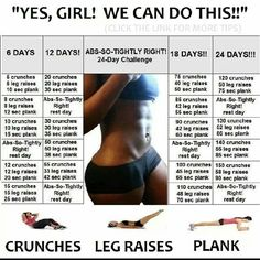 24 day challenge...Starting this tomorrow and will do before and after pics...got to see if it works :)
