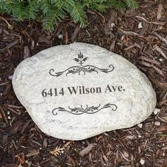 Personalized Engraved Filigree Welcome Garden Stone