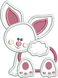 Baby Bunny Applique Snap Shot