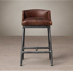 Awesome Metal and Leather Bar Stools