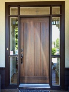 Inspiring Front Entry Doors Design Ideas – Home Door Ideas – door Front Door Entryway, Wood Front Doors, Exterior Front Doors, House Front Door, Wooden Doors, Front Entry, House Doors, Entrance Doors, Exterior Windows