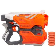 A Nerf Vortex blaster that fires 2 discs at once for double the trouble.