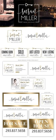 Realtor Branding Kit, Realtor Logo Design, Gold key Logo, Broker Logo, Real Estate Luxury Logo Design, Realtor Branding Package, Logo 189