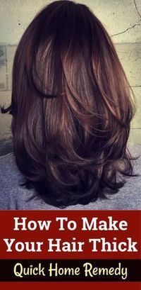 How To Make Your Hair Thicker – 5 Amazing Home Remedies thickhair healthyhair beautifulhair longhair haircare 143833781836749063 Hair Remedies For Growth, Hair Growth Tips, Hair Care Tips, Remedies For Thick Hair, Beauty Tips For Hair, Beauty Box, Beauty Care, Make Hair Thicker, How To Make Hair