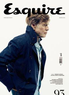 Robert Redford en portada de Esquire Rusia Noviembre 2013 | Male Fashion Trends