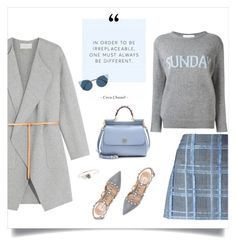 """Sunday! 🌞"" by sophiek82 ❤ liked on Polyvore featuring Vanessa Bruno, mizuki, Valentino, Versace, Fendi, Alberta Ferretti, Dolce&Gabbana, jumper, AlbertaFerretti and vanessabruno"
