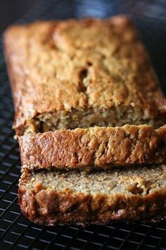 via Amandeleine: Banana Banana Bread. I just made this and it is slammin'! The last banana bread recipe I used asked for bananas. This asked for I added walnuts and chocolate chips Köstliche Desserts, Delicious Desserts, Dessert Recipes, Yummy Food, Best Banana Bread, Banana Bread Recipes, Think Food, Love Food, Breakfast Desayunos