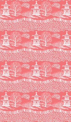 Cloud_Pagoda Coral Reverse-ch fabric by danikaherrick on Spoonflower - custom fabric
