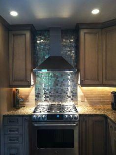 Modern Cobble Pattern Stainless Steel Mosaic Tile - kitchen - Eden Mosaic Tile