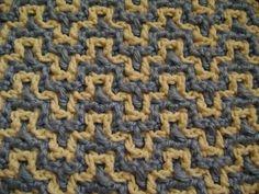 [Video Tutorial] Learn A New Crochet Stitch: Interlocking Crochet- Bargello - http://www.dailycrochet.com/video-tutorial-learn-a-new-crochet-stitch-interlocking-crochet-bargello/