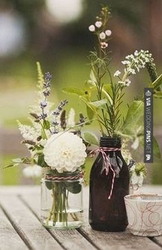 wedding table settings rustic - Google Search