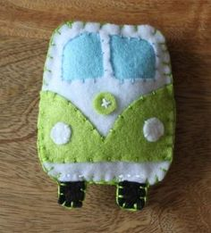 VW Classic Campervan Green Toy Plushie Air Freshener Felt   Luulla