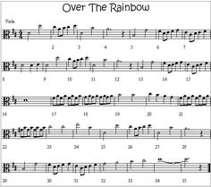 Over The Rainbow Melody for Viola
