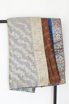 Entertaining Silk Blend Kantha Throw - dignify   - 1