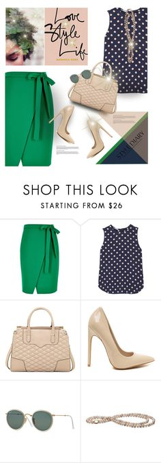 """""""Love. Style. Life."""" by rigginsbabygirl ❤ liked on Polyvore featuring River Island, Equipment, Rebecca Minkoff and Ray-Ban"""