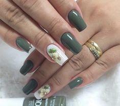 Green Nail Art, Green Nails, Korea Nail Art, Olive Nails, Toenail Art Designs, Vacation Nails, Nail Tattoo, Wedding Nails Design, Trendy Nail Art