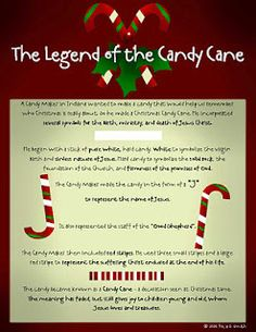 The Legend of the Candy Cane! Neighbor Gift The Legend of the Candy Cane! Attach the tag to a box of candy canes! Here's the PDF: Legend of the Candy Cane Packet PDF Holiday Games, Christmas Games, Christmas Activities, Christmas Printables, Christmas Candy, Christmas Art, Christmas Traditions, Winter Christmas, All Things Christmas