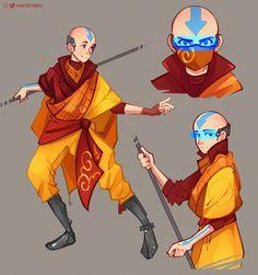 Avatar Aang, Avatar Funny, Team Avatar, Character Design Animation, Character Art, Character Concept, The Last Avatar, Avatar The Last Airbender Art, Avatar Fan Art
