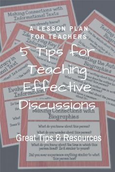 5 Tips for Teaching Effective Discussion Geography Lessons, Teaching Geography, Teaching History, The New School, New School Year, High School, Teaching Strategies, Teaching Resources, Teaching Ideas