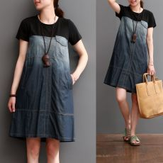 Com - Diy Crafts - Marecipe Short Sleeve Denim Dress, Diy Fashion, Fashion Dresses, Denim Ideas, Denim Crafts, Patchwork Dress, Clothing Hacks, Denim Top, Jeans Dress