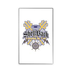 Navy Shellback Crossing the Line Magnet now available! Show your Navy Service pride on your refrigerator, car, file cabinet and other metallic surfaces! This custom magnet is 3 inches tall and 2 inches wide. Designed, Printed & Sublimated in the USA!