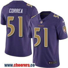 Men's Baltimore Ravens #51 Kamalei Correa Purple 2016 Color Rush Stitched NFL Nike Limited Jersey